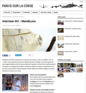 Mare Luce - Paris sur la Corse